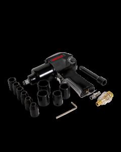 """Pistola de impacto neumática (1/2"""", 529 lb/ft) con dados"""