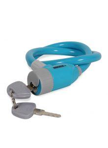 Cable candado flexible azul