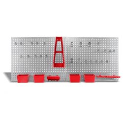 Panel con soporte para herramientas 34 piezas