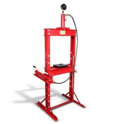 Prensa hidráulica con pistón y manómetro 15 ton