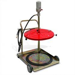 Sistema neumático dispensador de grasa para tambo